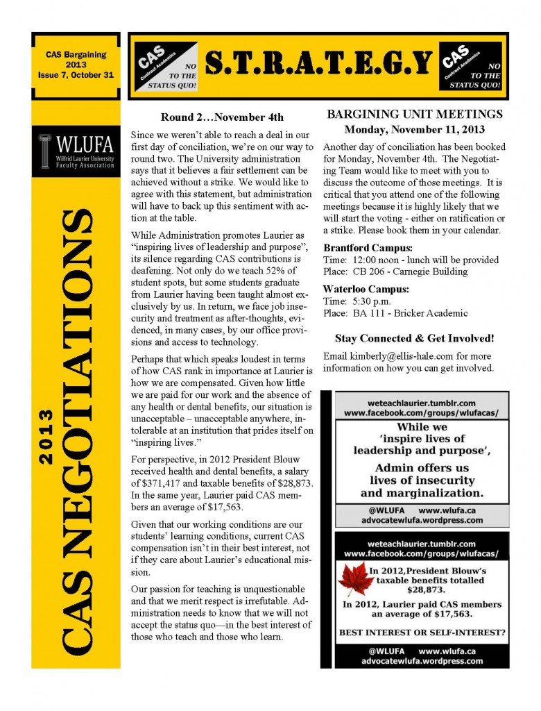 CAS Negotiations Newsletters Oct 31 2013