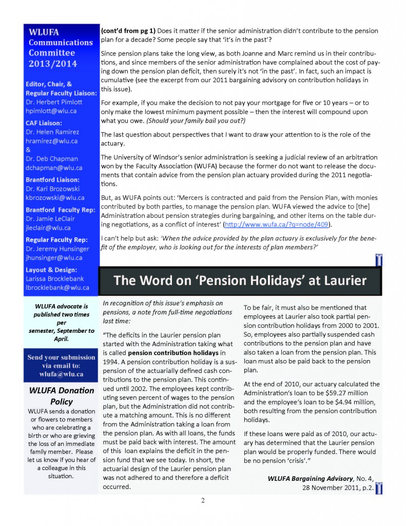 WLUFA advocate Issue 3 Volume 2_HP_Revisions_EXTRA_09052014_Page_2