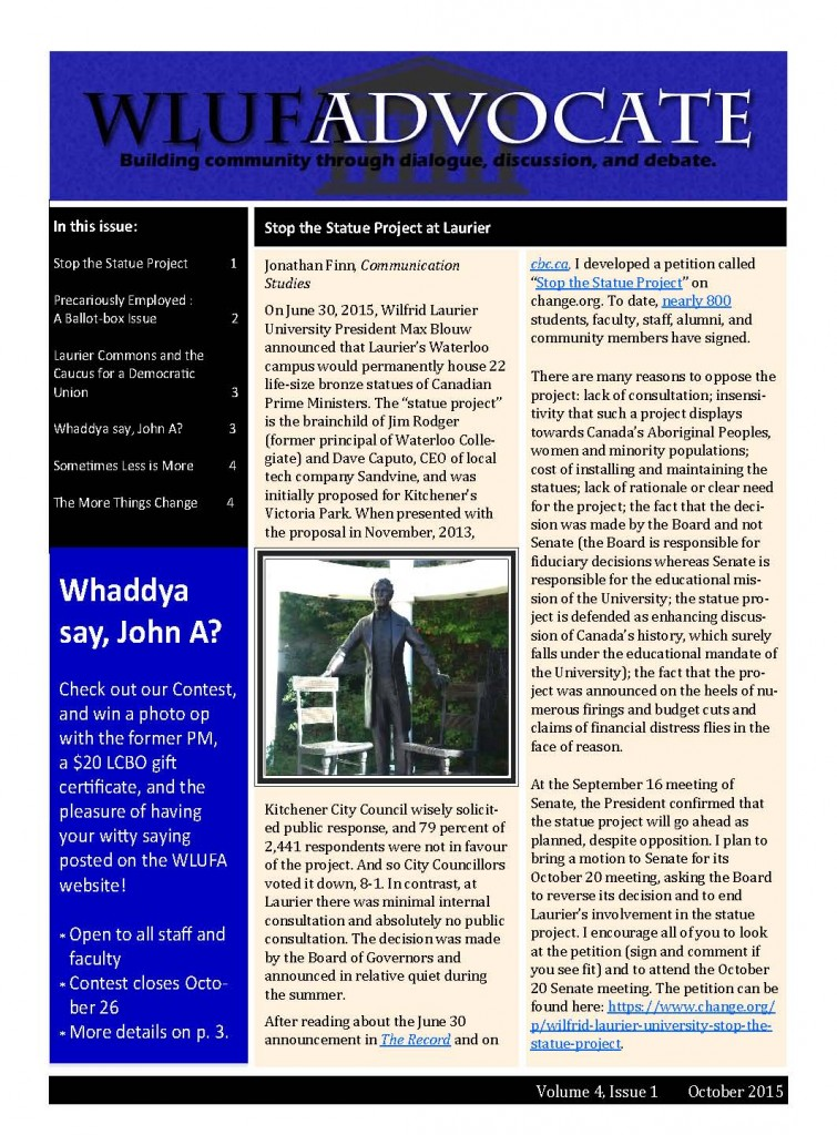 WLUFA Advocate October 2015_Page_1