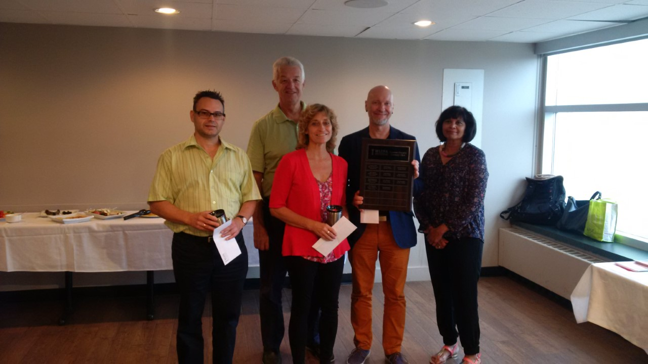 """Pictures of the Fall Wine & Cheese and Recognition of Contract Faculty """"Century Club"""" Inductees"""