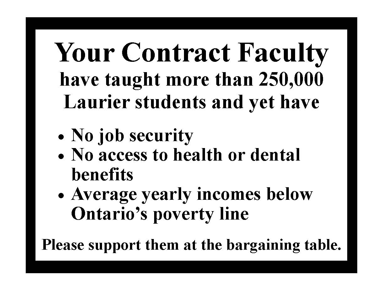 contract faculty at laurier two pp slides that can help wlufa
