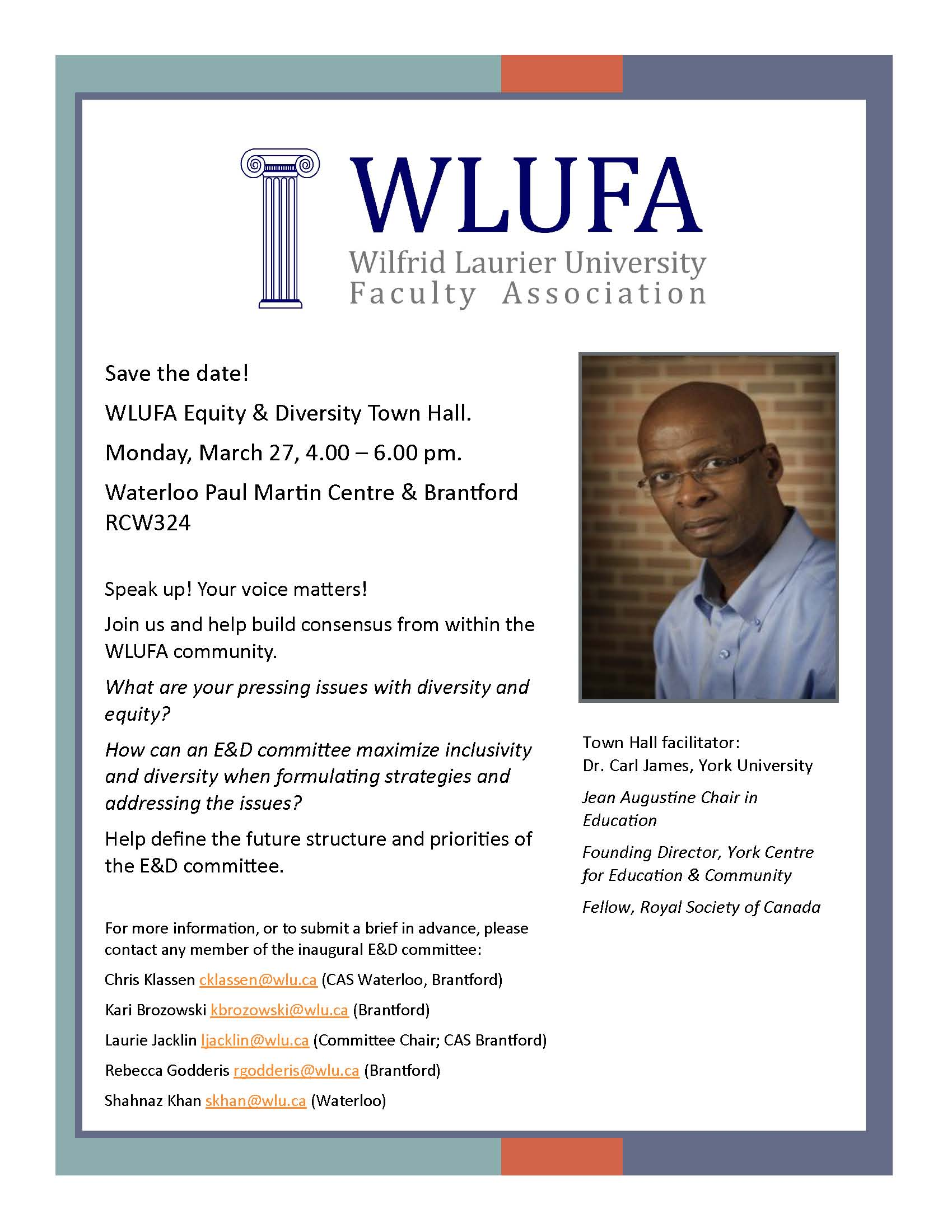 WLUFA Equity and Diversity Town Hall