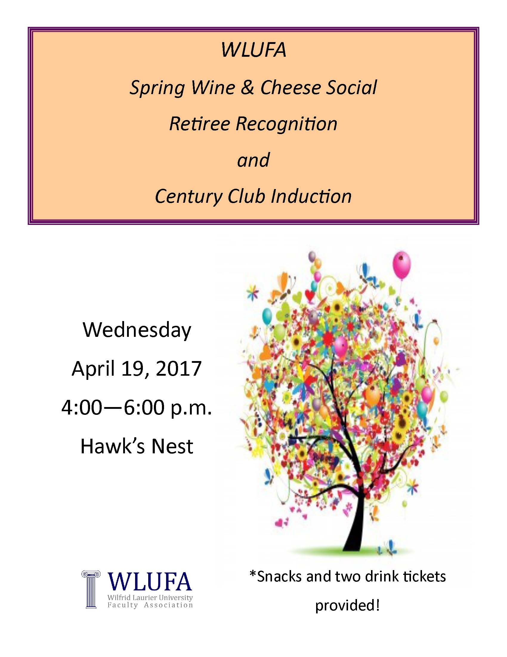 Spring Wine & Cheese Social