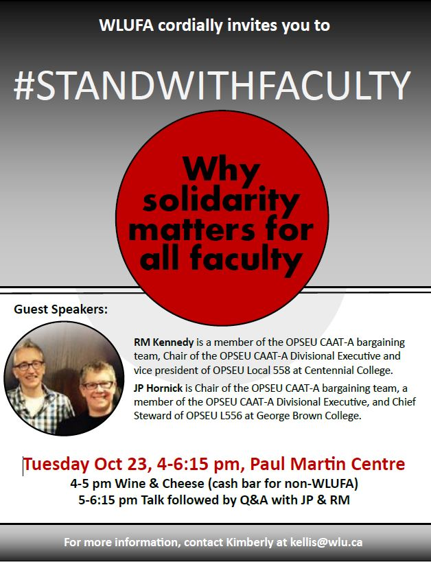 REMINDER: Today! Join us in the Paul Martin Centre – 4:00-6:15 p.m.