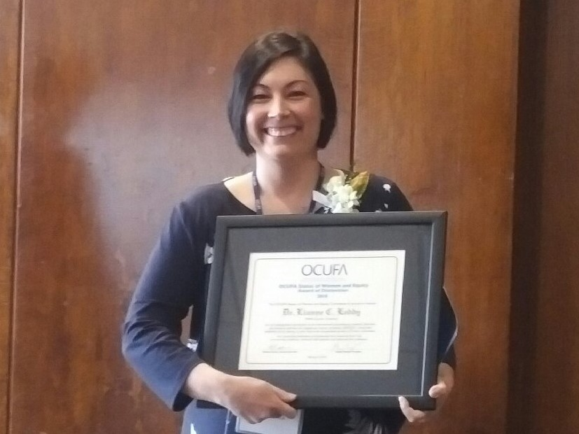 Congratulations to Dr. Lianne Leddy: Recipient of OCUFA's Status of Women and Equity Award of Distinction